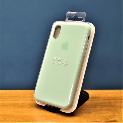 Накладка для iPhone Xs Silicone Cover Lite Mint