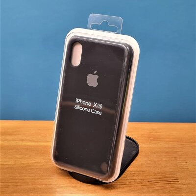 Накладка для iPhone X/Xs Silicone Cover Black