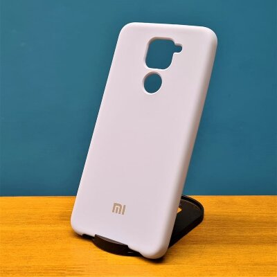 Накладка для Redmi Note 9 Silicone Cover Light Blue