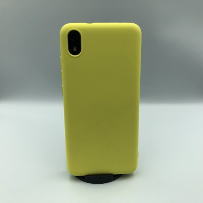 Накладка для Xiaomi Redmi 7A Silicone Case Yellow