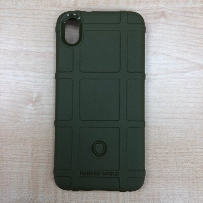 Накладка для Xiaomi Redmi 7A Hard Silicone Case Green