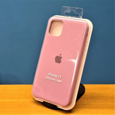 Накладка для iPhone 11 Silicone Cover Light purple
