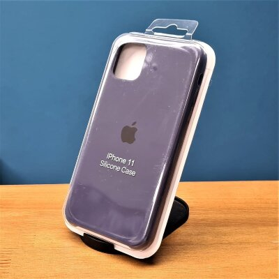 Накладка для iPhone 11 Silicone Cover Blue