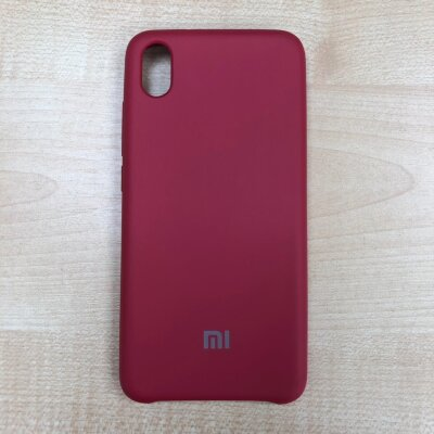 Накладка для Xiaomi Redmi 7A Silicone Cover Rose Red