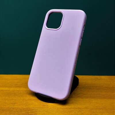 Накладка для iPhone 12/12 Pro Silicone Cover Lavender