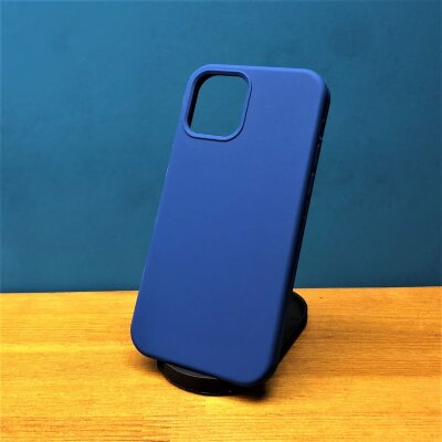 Накладка для iPhone 12/12 Pro Silicone Cover Cobalt Blue