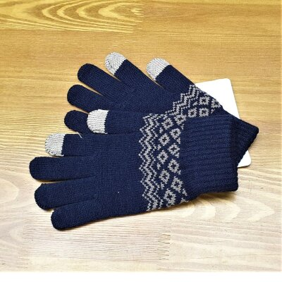 Перчатки Xiaomi Touchscreen Winter Wool Gloves Синий (ST20190601)
