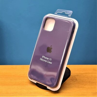 Накладка для iPhone 11 Silicone Cover Plum