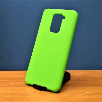 Накладка для Redmi Note 9 Silicone Case Light Green
