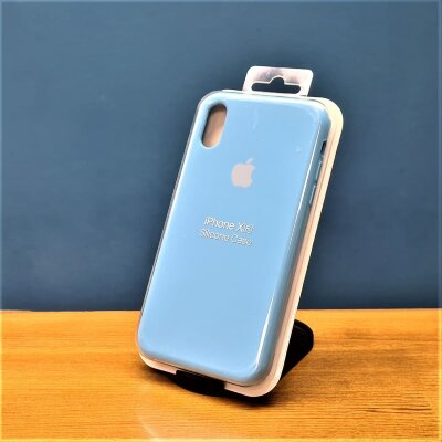 Накладка для iPhone XR Silicone Cover Blue